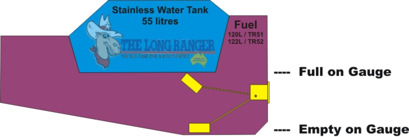 100 Series Landcruiser Long Ranger Combo Fuel Tank Diagram