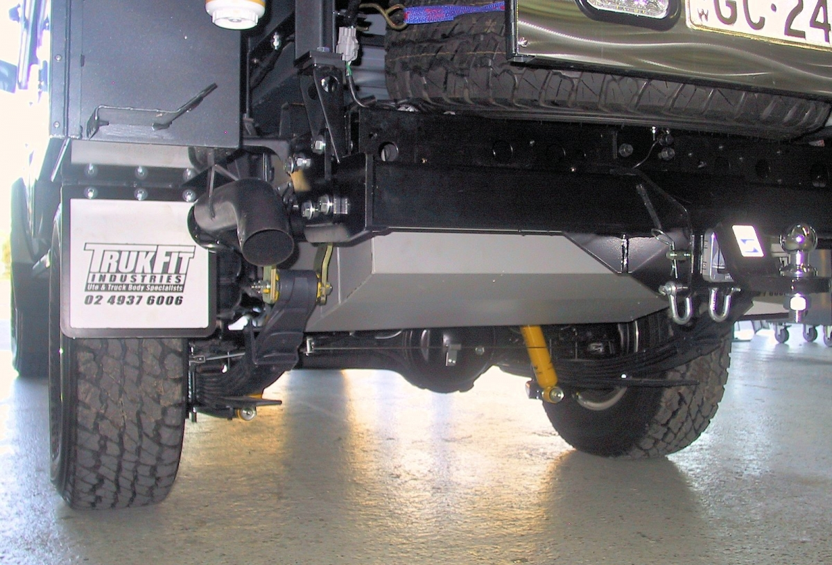 Good ground clearance with tank higher than towbar