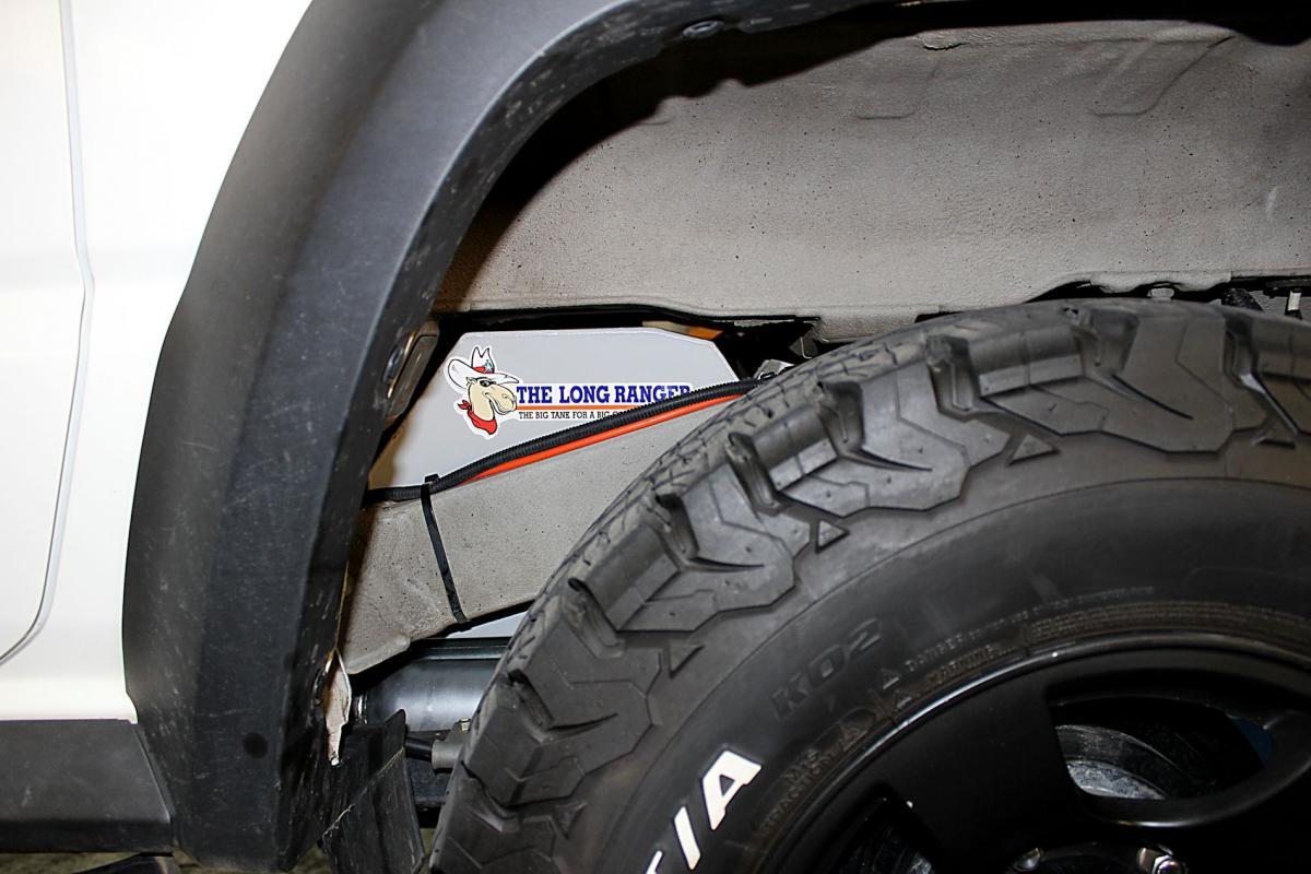 Wheel Arch View of Jimny Tank