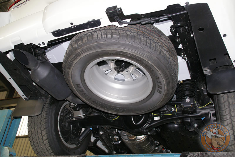 Underneath With Spare Tyre